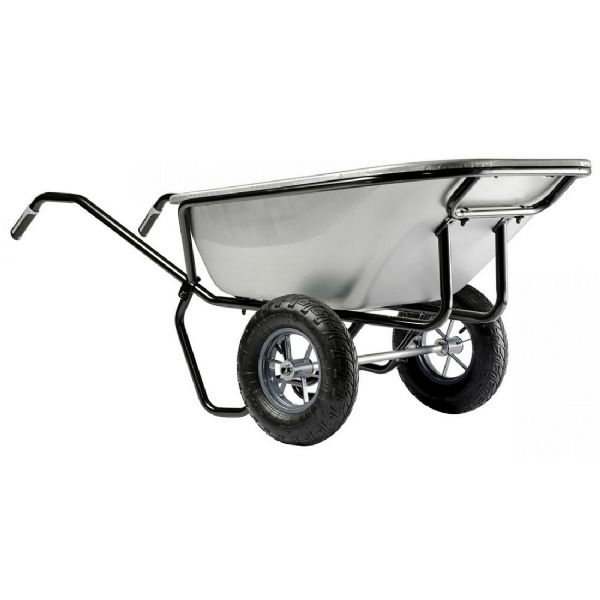 Ranger Large Wheelbarrow | Twin Wheel Wheelbarrow | Galvanised Tray